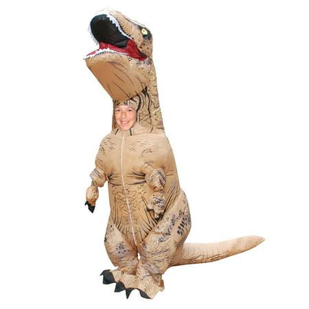 Skinz Kids Mega Suit Inflatable Zentai Costume T Rex Dinosaur   Small  34 310