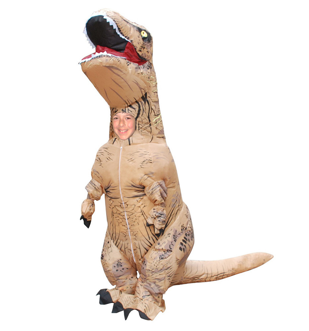 Skinz Kids Mega Suit Inflatable Zentai Costume T-Rex Dinosaur - Small (3'4-3'10)