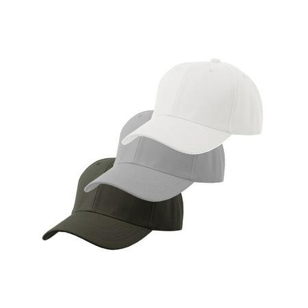 bb4a1e1b Men's Plain Baseball Cap Adjustable Curved Visor Hat