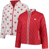 Nebraska Cornhuskers Women's Plus Size Reversible Full-Zip Puffer Jacket - Scarlet/White