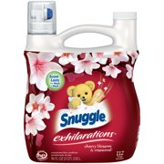 Snuggle Exhilarations Liquid Fabric Softener, Cherry Blossom & Rosewood, 96 Ounce, 112 Loads