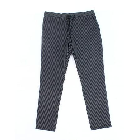 Calvin Klein Mens Large Pinstripe Drawstring Slim Pants