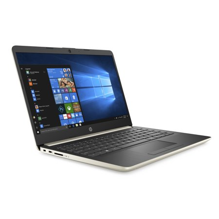 "HP 14 Slim Laptop, 14"" HD Display, Ryzen 3 3200U, AMD Radeon™ Vega 3 Graphics, 4GB, 128GB SSD, Pale Gold, 14-dk0024wm"