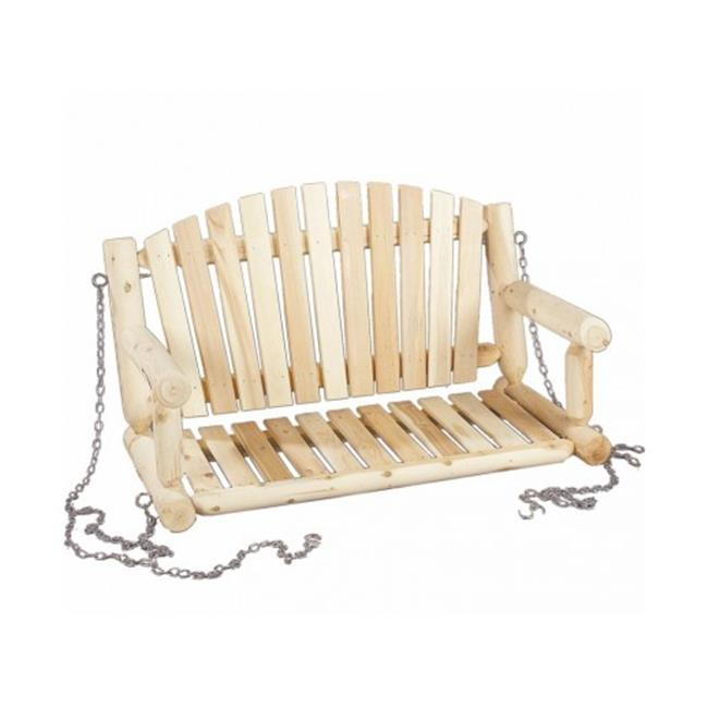 Rustic Natural Cedar Furniture 070026C 4 ft. Seat Only with Chain