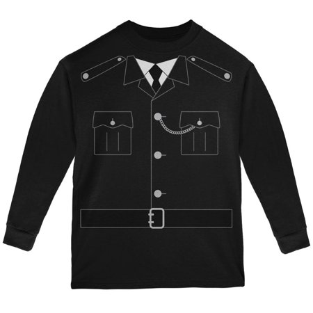 Halloween British Bobby Copper Police Costume Youth Long Sleeve T - British Costume