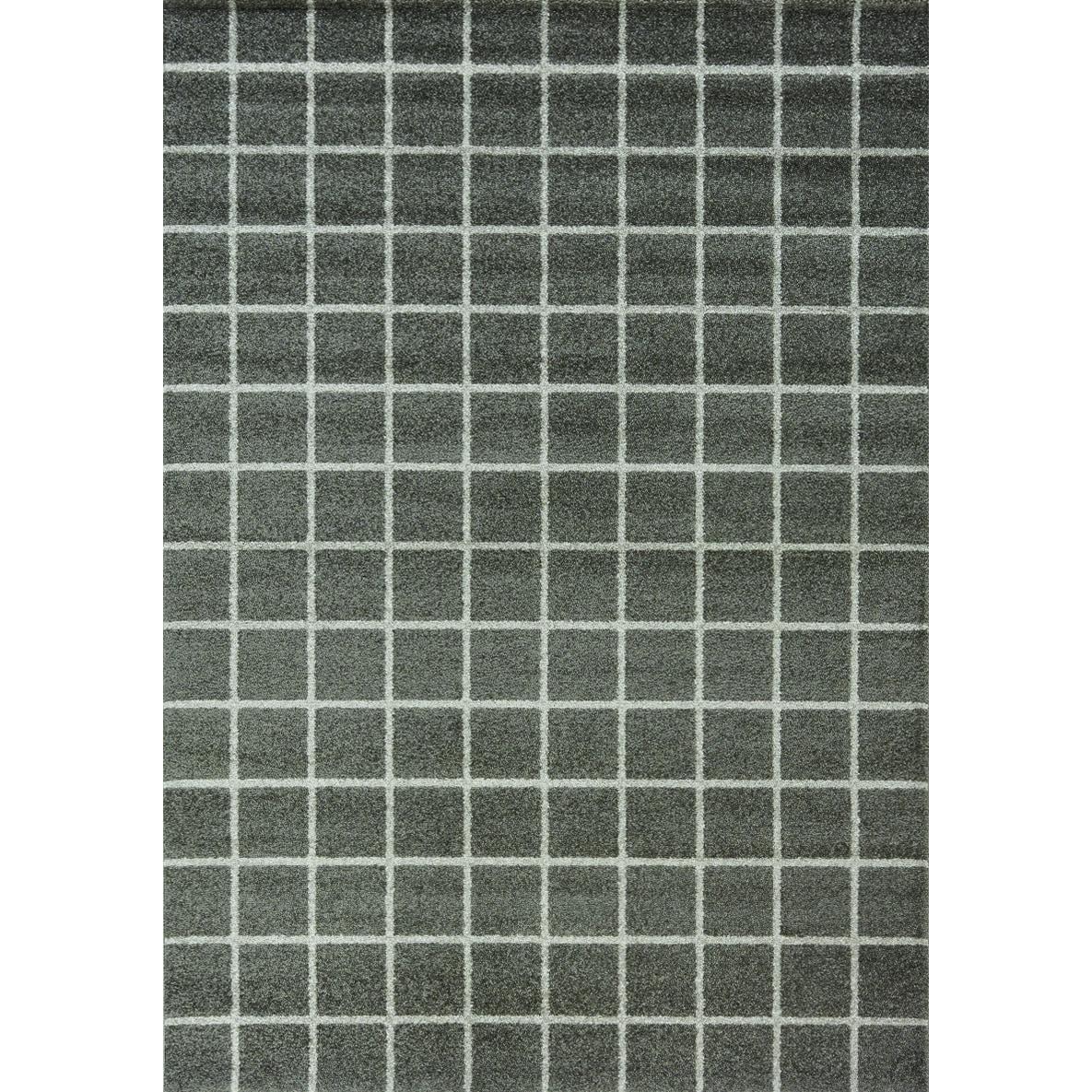 Kalora Interiors Camilla Charcoal/ Cream Tile Rug - 5'3 x 7'7
