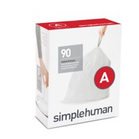 simplehuman Code A Custom Fit Liners, 4.5 Liter / 1.2 Gallon, 90 Count