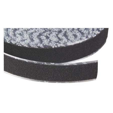 Velcro brand 1 w x 75 39 l loop black reclosable adhesive - Velcro doble cara ...