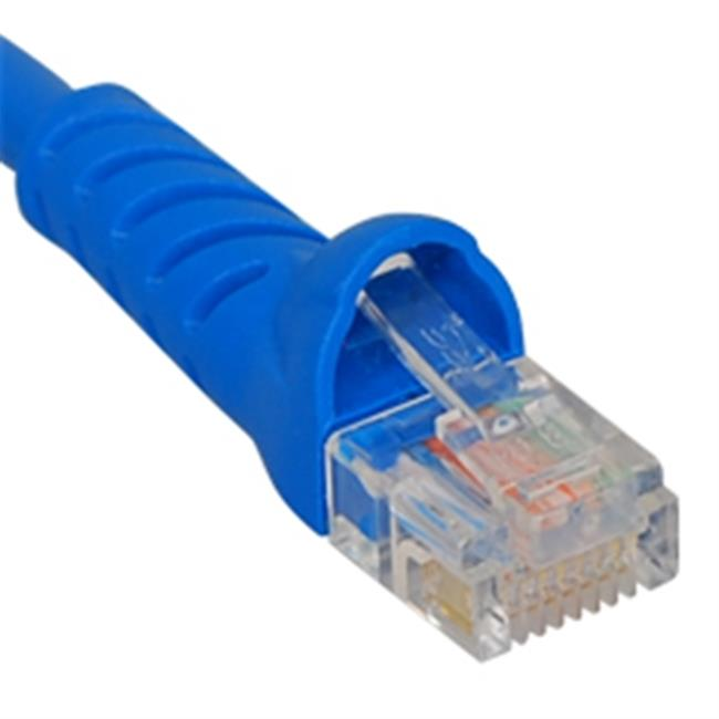 ICC ICPCSK10BL 10 ft. Ultra Slim Line Molded Boot Category 6 Patch Cord, Blue