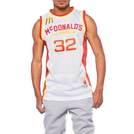 Mens Round Neck Mcdonalds Baseketball Uniform Training Jersey HGA07-2XL-James (France Training Jersey)
