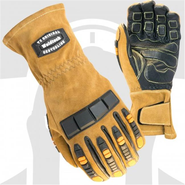 Cestus 7027 2XL Welder Series Weldtech Tx Cowhide Leather Welding Work One Pair Glove - 2 Extra Large