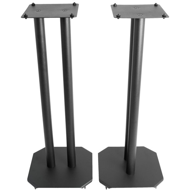 "VIVO Universal 9"" Steel Floor Speaker Stands for Surround Sound & Book  Shelf Speakers (STAND-SP9B)"