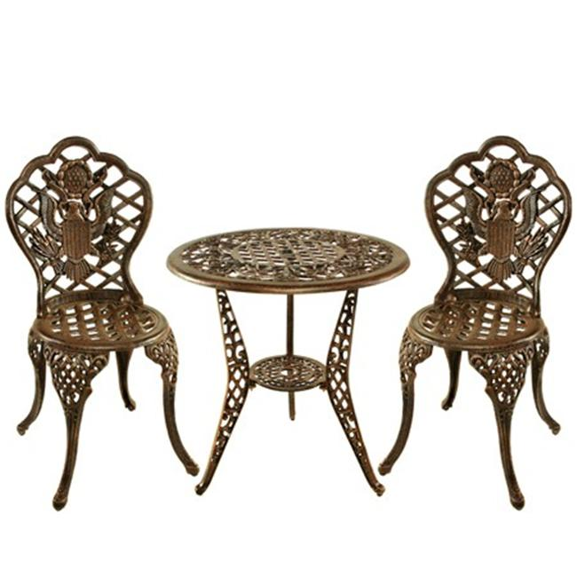 Oakland Living 3505-AB - American Eagle 3 Piece Bistro Set - Antique Bronze