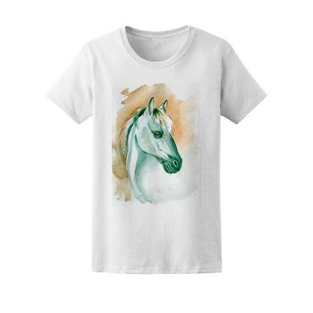 Amazing Horse Watercolor Sketch Tee Women
