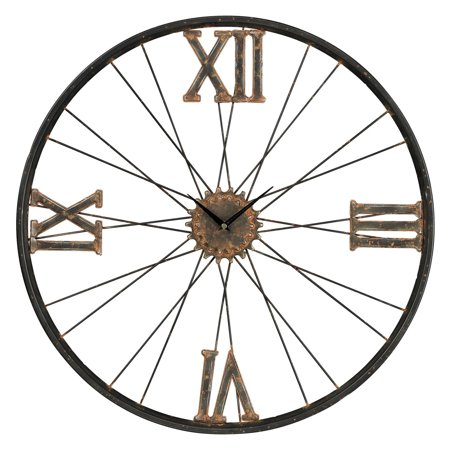 Sterling Iron Bike Wheel Wall Clock