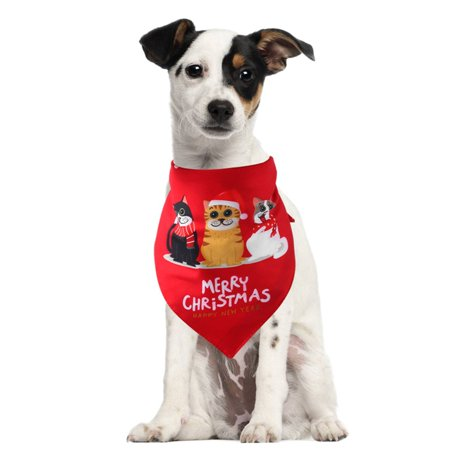 Taykoo Pet Dog Christmas Collar Bandana Washable Scarf Handkerchiefs Bibs