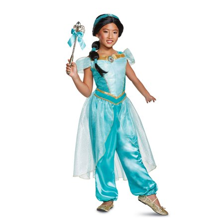 Aladdin Jasmine Deluxe Child Costume - Princess Jasmine Halloween Costume For Kids