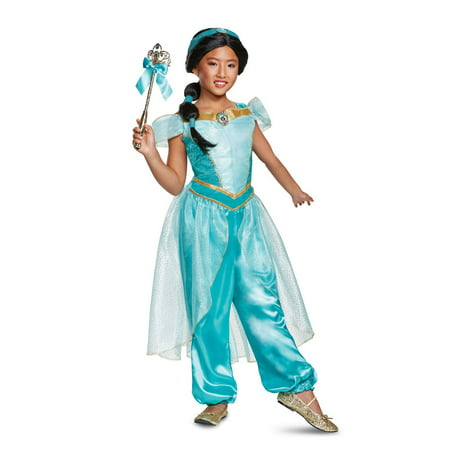 Aladdin Jasmine Deluxe Child Costume (Aladdin Magic Carpet Ride Halloween)