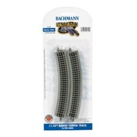 Bachmann Trains N Scale 11.25 inch Radius Curved Track Train Accessory - 6 Pack