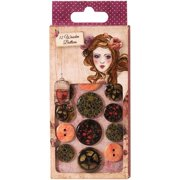 Santoro Willow Printed Wooden Buttons 12