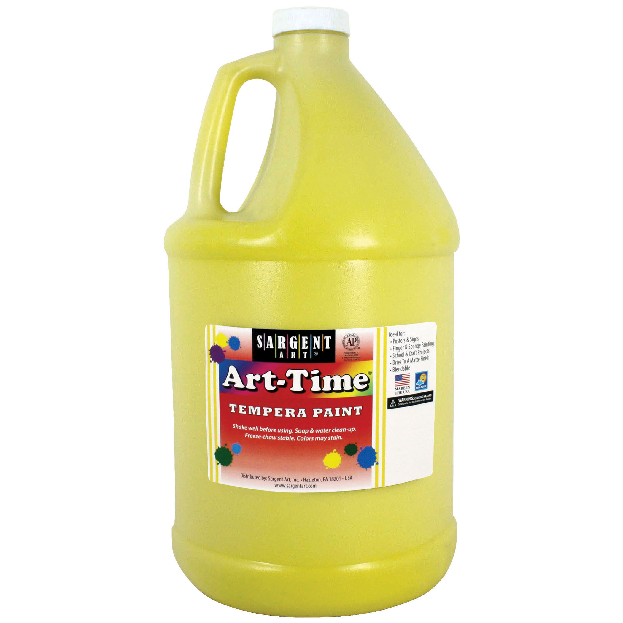 Art-Time® Tempera Paint, Yellow - Gallon