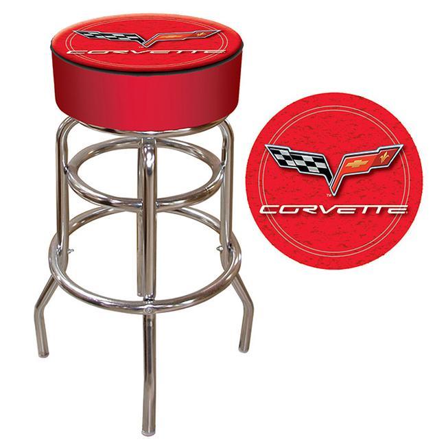 Corvette C6 Padded Bar Stool- Red- GM1000R-C6-COR