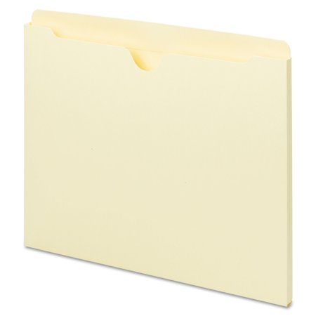 Universal Manila File Jackets with Reinforced Tabs, Flat, Letter, 100/Box (Hanging Flat File Jackets)