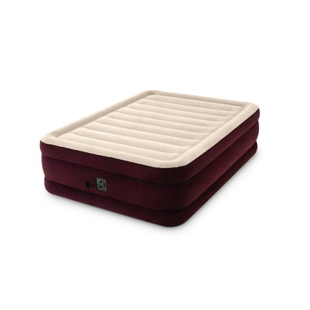 "Intex 20"" Queen Dura-Beam Extra Raised Guest Airbed Mattress with Internal Pump"