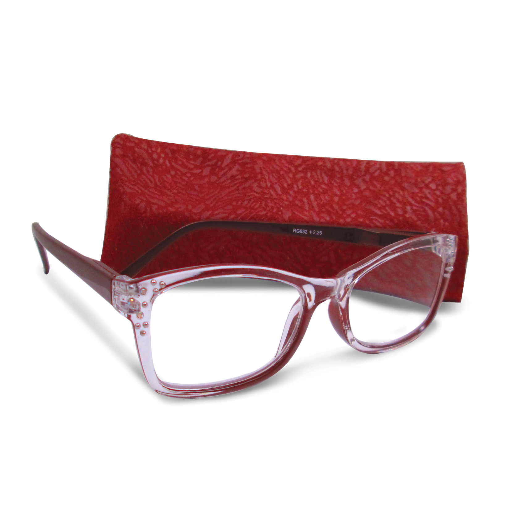 Brown 1.25 Magnification Rhinestone Reading Glasses