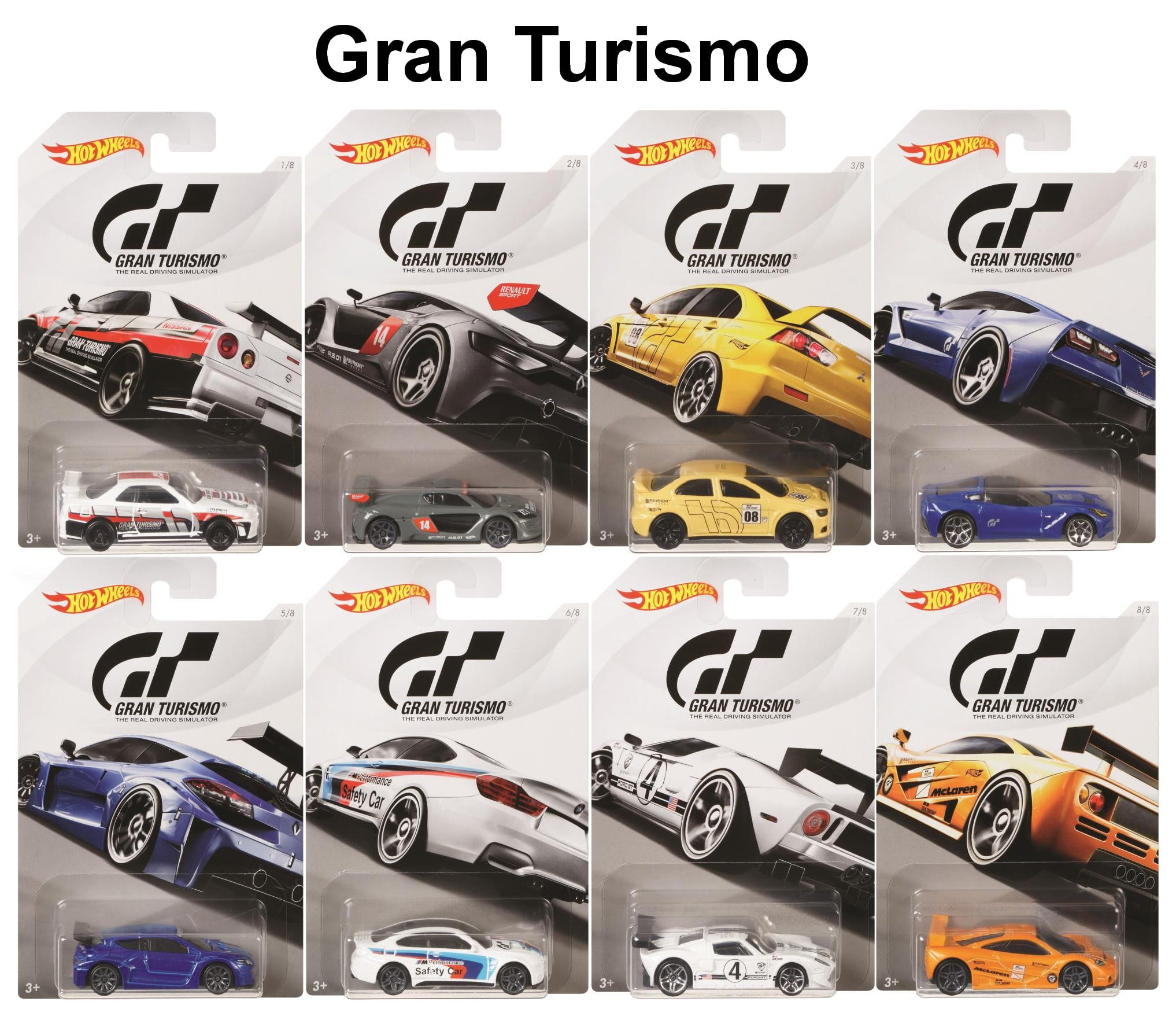 "Hot Wheels 2018 Gran Turismo ""The Real Driving Simulator"" Complete Set of 8... by"