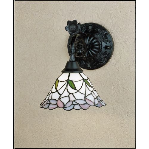 """Meyda Tiffany 27386 Daffodil Bell 9"""" Wide Single Light Wall Sconce with Stained Glass Shade by Meyda Tiffany"""