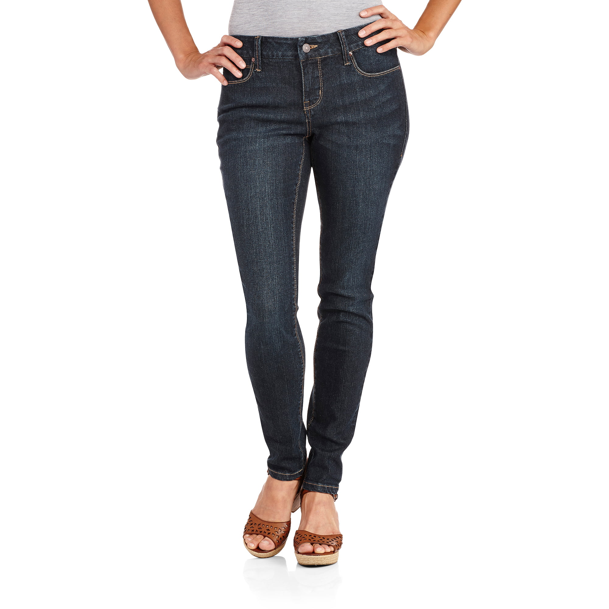 Faded Glory Women&39s Core Skinny Jeans available in Regular and