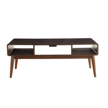 Walnut Veneer Mdf - Coffee Table in Walnut and White - MDF, Wood Veneer, Solid W Walnut and White