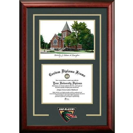 "University of Alabama, Birmingham 8.5"" x 11"" Spirit Graduate Diploma Frame with Campus Images Lithograph"