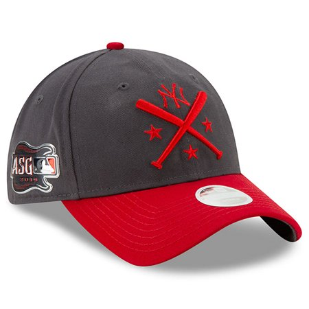New York Yankees New Era Women's 2019 MLB All-Star Workout 9TWENTY Adjustable Hat - Graphite/Red -