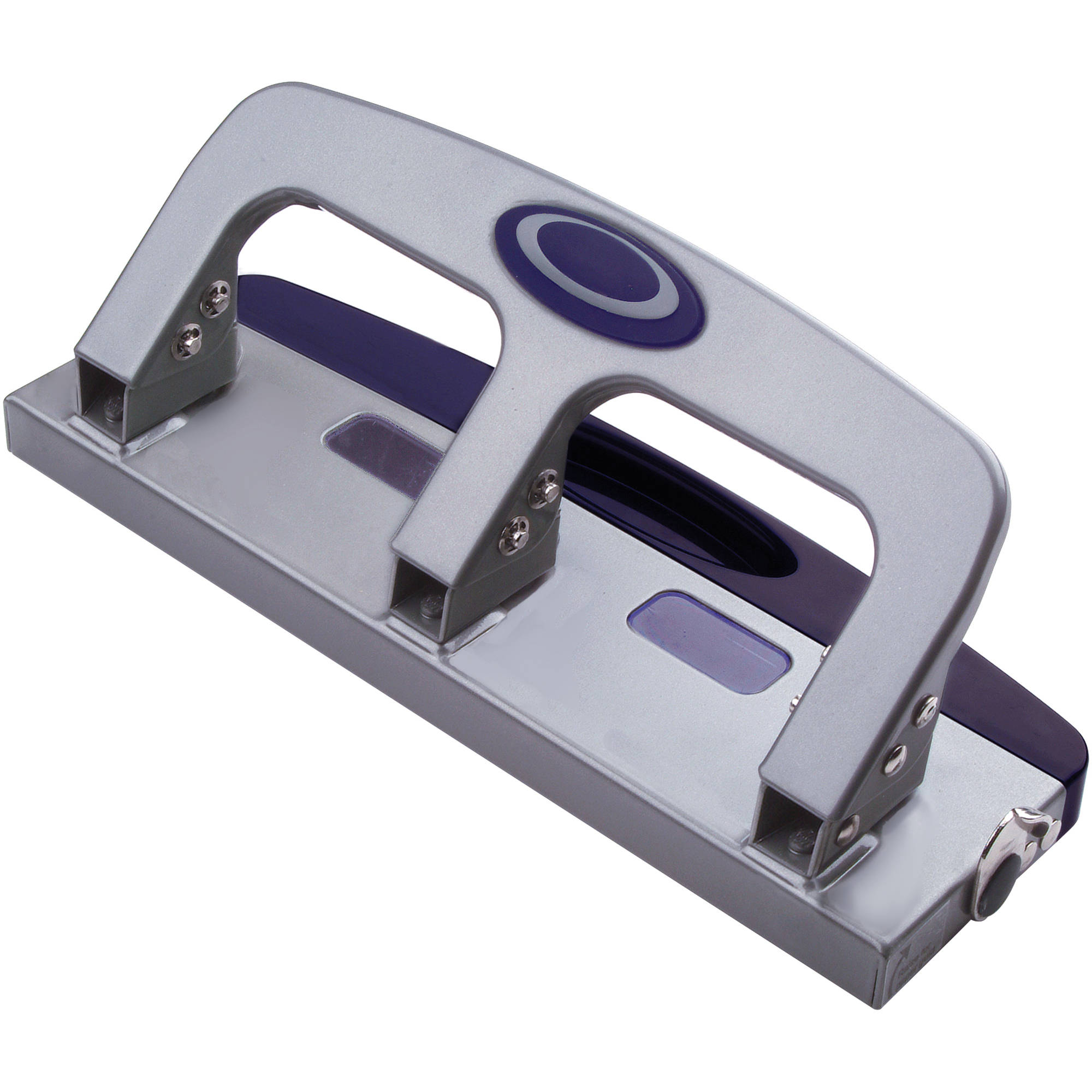 Black Master MP3 20-Sheet Three-Hole Punch 9//32-Inch Holes Oversized Handle Steel