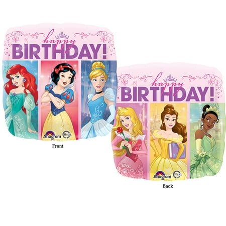 Disney Princess Birthday Balloons (Disney Princess Happy Birthday Authentic Licensed Theme Foil / Mylar Balloon 18