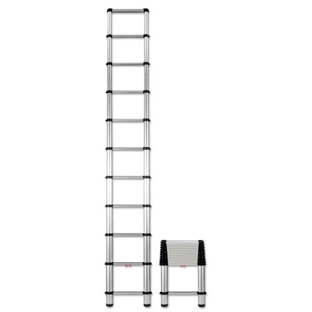 Telesteps Telescopic Extension Ladder, 14 ft, 250lb, 10-Step, Aluminum