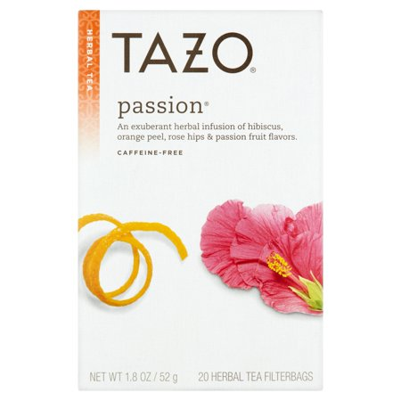 Tazo Herbal Tea, Passion, Tea Bags, 20 Ct