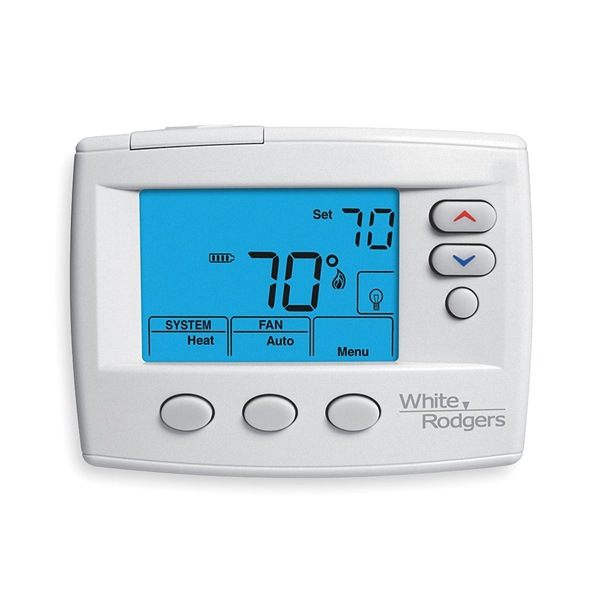 Digital Thermostat, 1H, 1C, Blue Screen