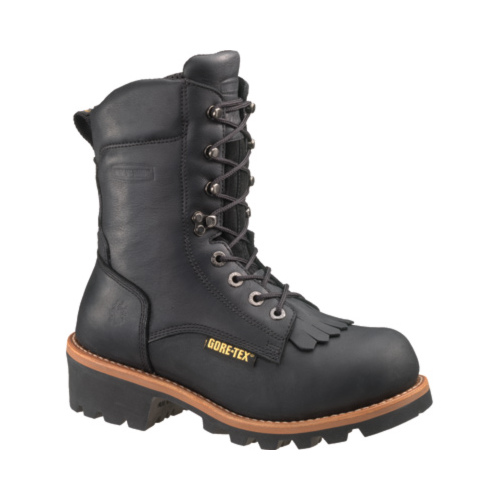 "Men's Wolverine Buckeye Non Insulated GTX 8"" Steel Toe Logger Boot by Wolverine"