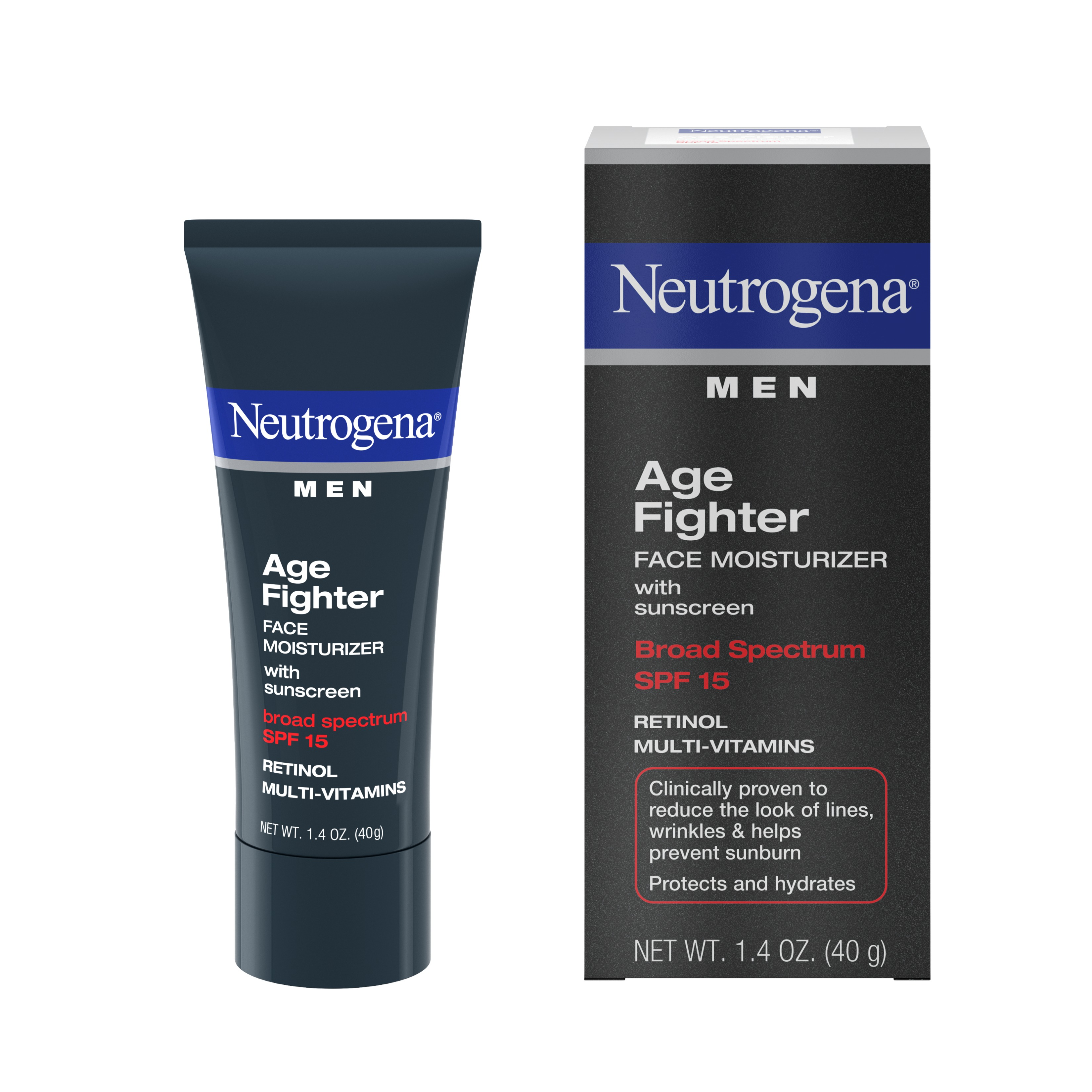 Neutrogena Men's Anti-Wrinkle Age Fighter Moisturizer, SPF 15, 1.4 oz