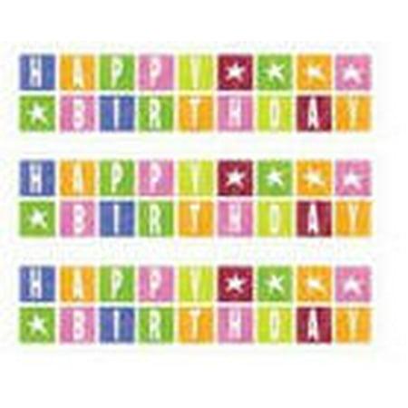 Happy Birthday Photo Border - Happy Birthday Edible Photo Image Cake Border Decoration