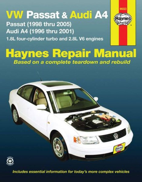 haynes vw passat audi a4 automotive repair manual walmart com rh walmart com 1998 Audi A4 Engine Diagram 1998 Dodge Stratus Manual