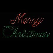 outdoor led red and green merry christmas sign lighted display 300 bulbs