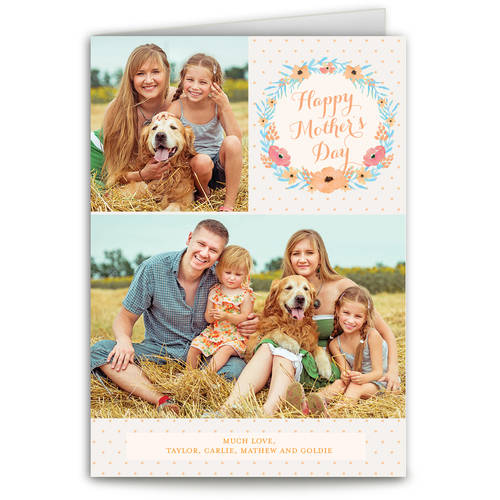 Floral Wreath Mother's Day Greeting Card
