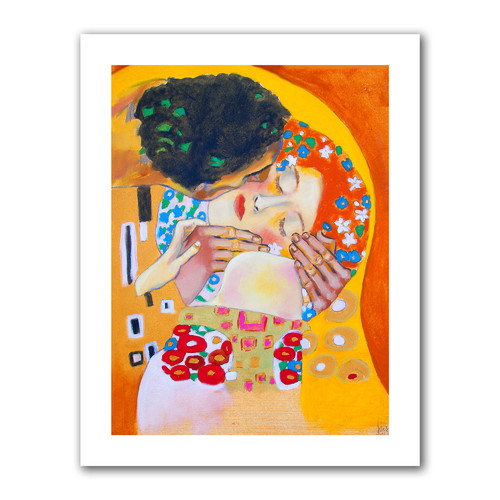 ArtWall 'Interpretation of The Kiss by Gustav Klimt' by Susi Franco Painting Print on Canvas