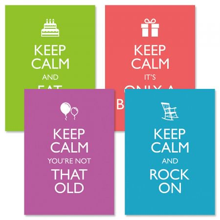 Keep Calm Birthday Greeting Cards