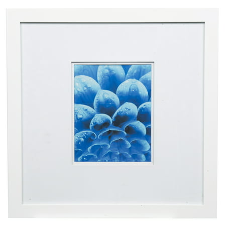Gallery Solutions 18x18 Wide White Frame With Double Mat For 8x10