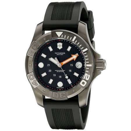Swiss Army Dive Master 500 Midsize Quartz Black PVD Steel Mens Watch Date (Best Swiss Dive Watches)